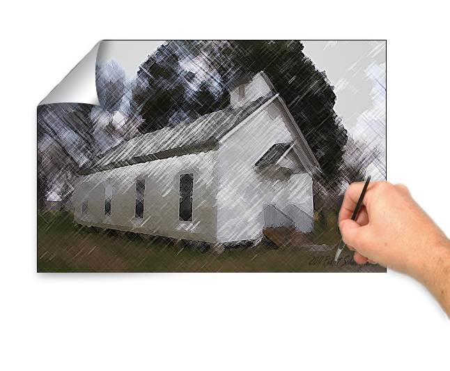White SchoolHouse Painting